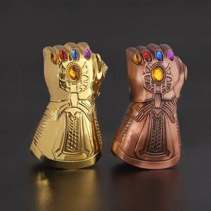 Infinity Gauntlet glove bottle opener - solid pewter metal Thanos glove keychain